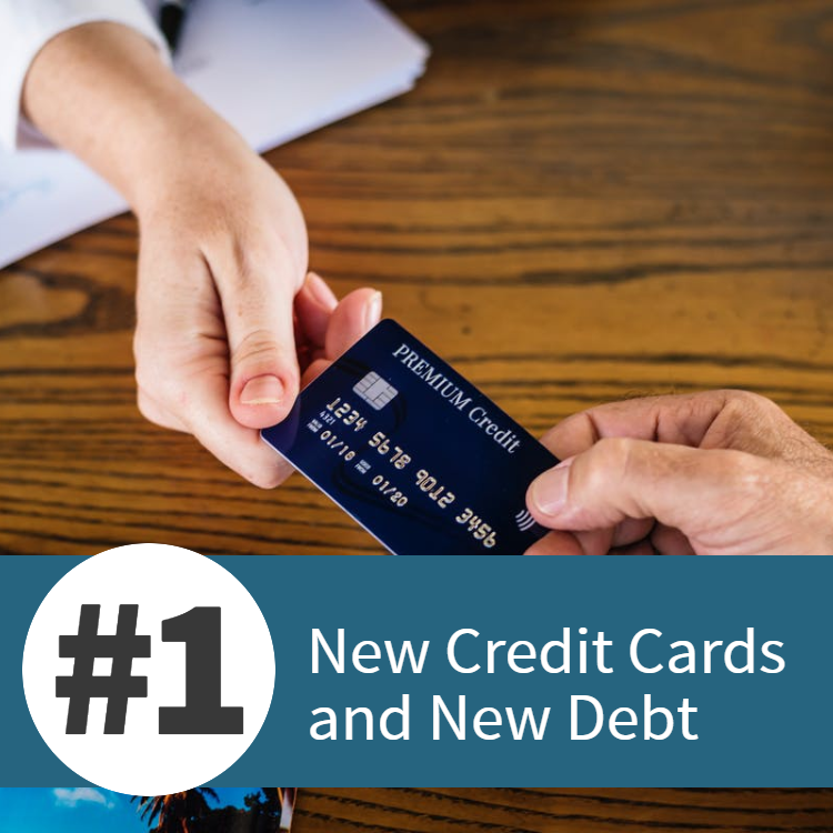 new credit cards and new debt mortgage pitfall