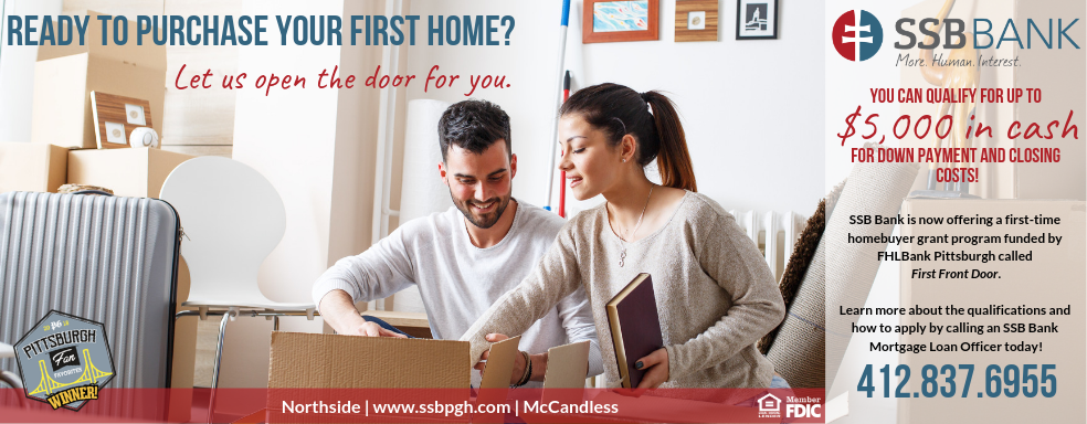 first front door | first home | first time homebuyer grant | fhlbank pittsburgh | down payment and closing cost grant