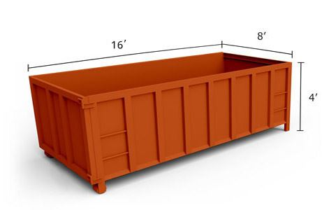 15' Roll-Off Dumpster
