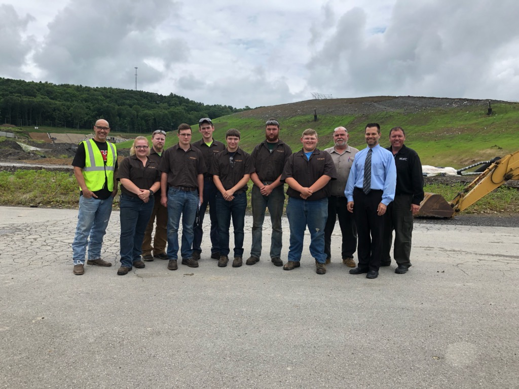 new castle school of trades tour at seneca landfill