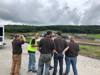 seneca landfill gives tour to new castle school of trades students
