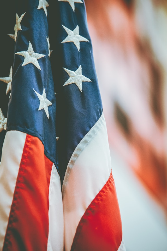 hanging flag on veterans day