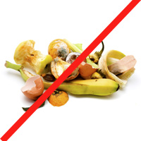 Food waste not for recycling.