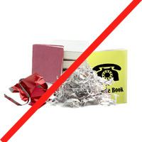 contaminated paper not for recycling