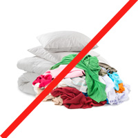 textiles not for recycling