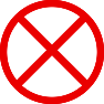 red cross out icon