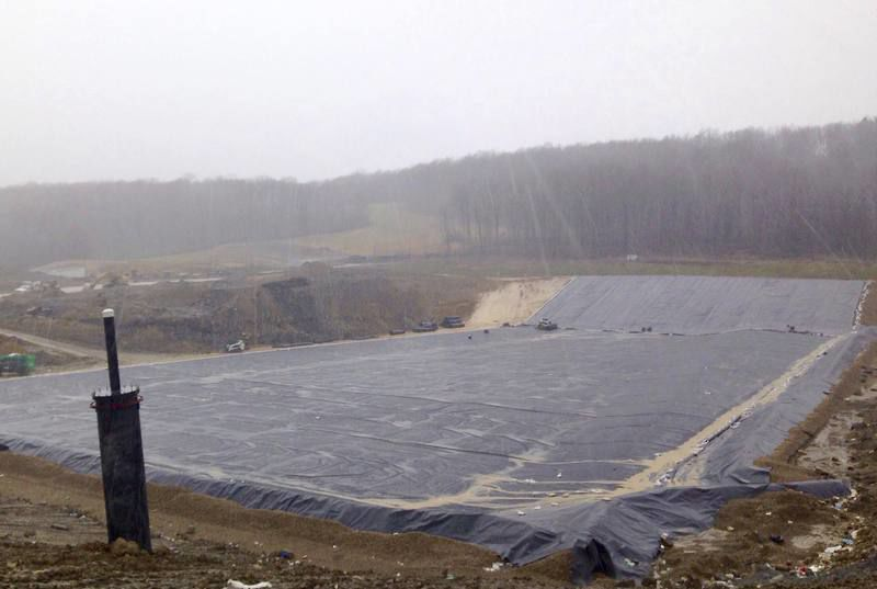 Liner system at Seneca Landfill in Butler County, PA.