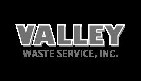 Valley Waste Service company logo.
